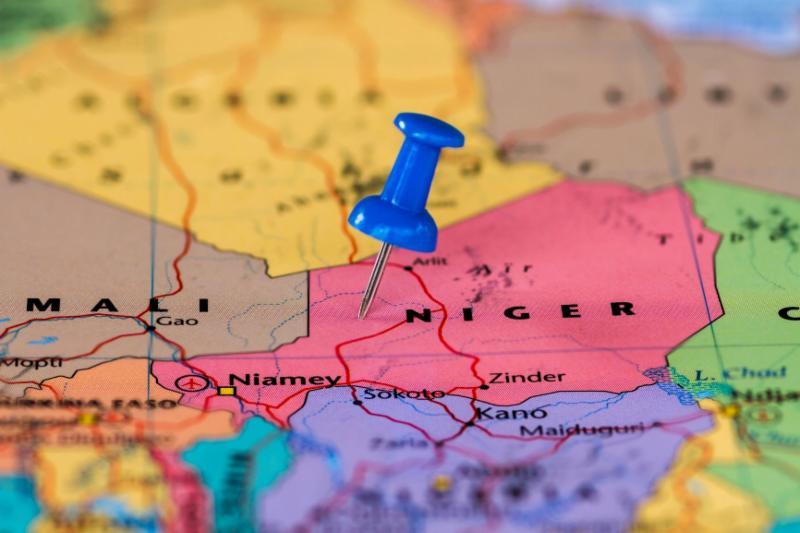 Niger on Map